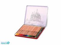 مداد رنگی 3+24 رنگ فلزی آریا